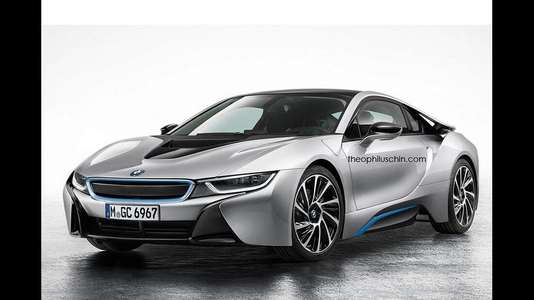 08/2014, BMW i8 ohne Kühlerniere