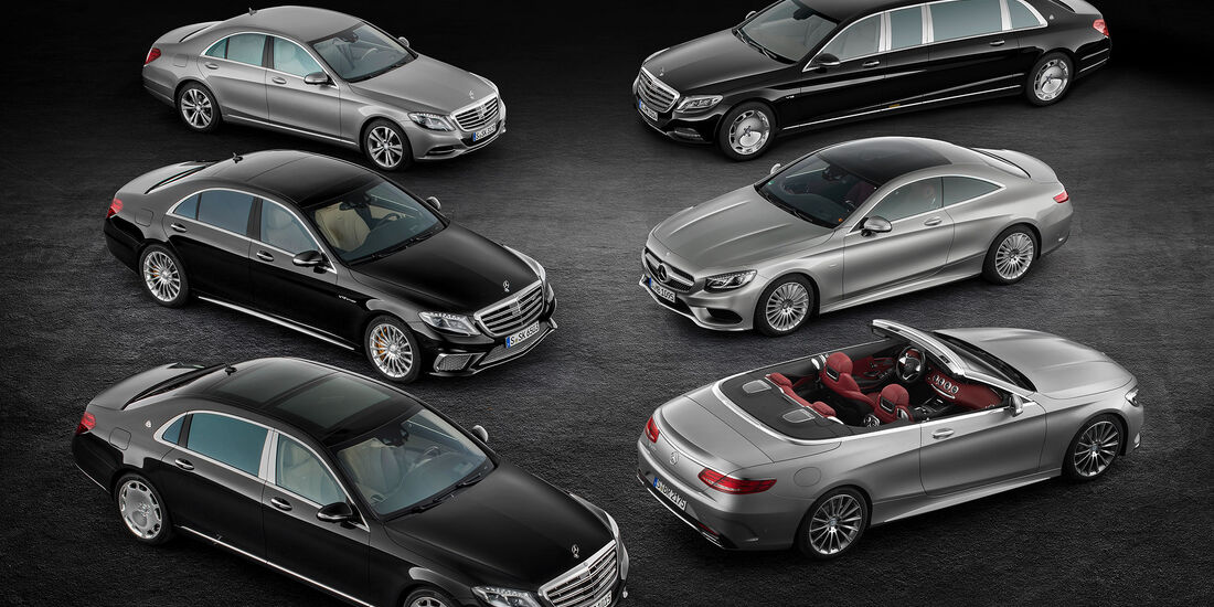 08/2015, Mercedes S-Klasse Modellfamilie