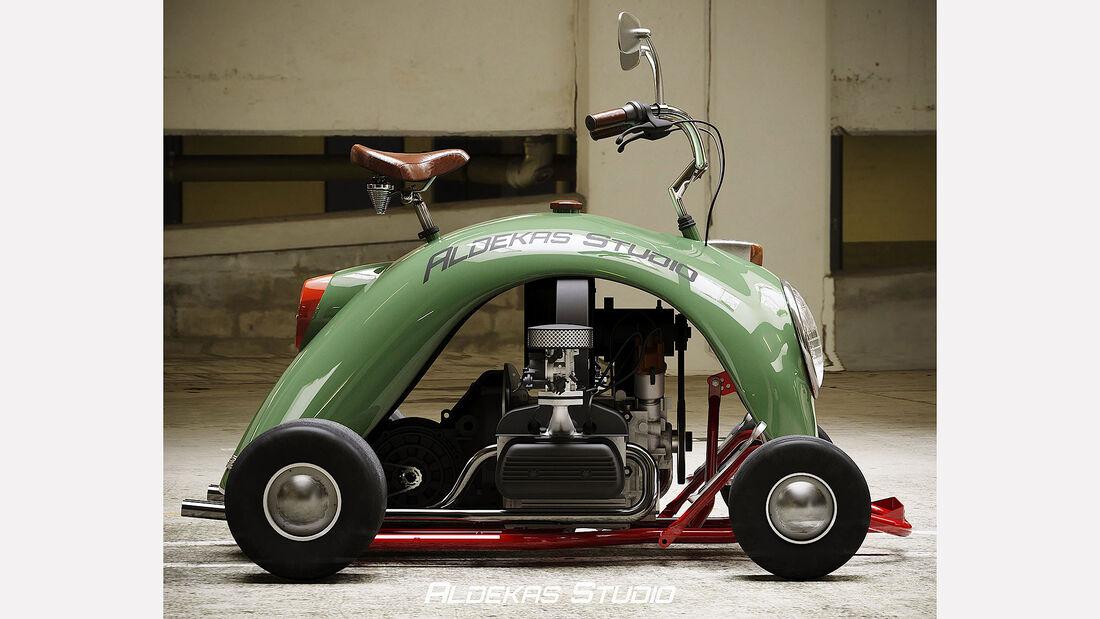 08/2020, Go Kart aus VW Käfer Kotflügel