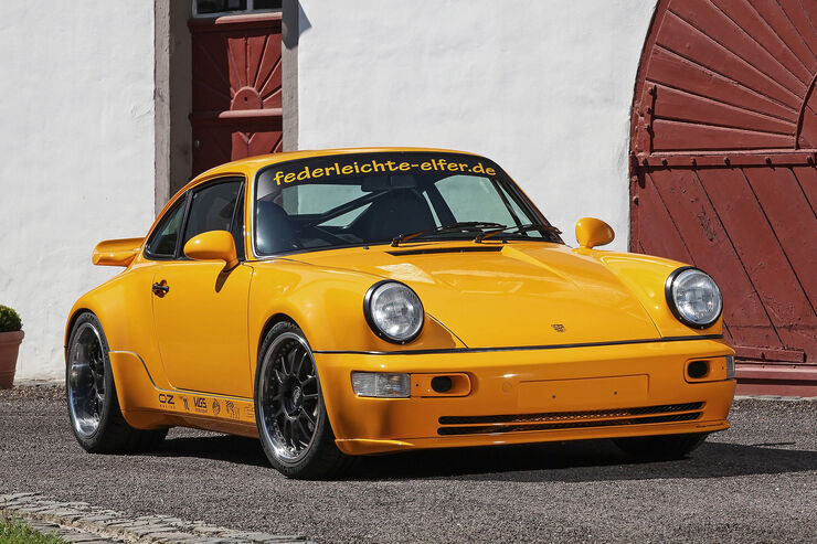 dp motorsport porsche 911 typ 964 project yellow leichtbau. Black Bedroom Furniture Sets. Home Design Ideas