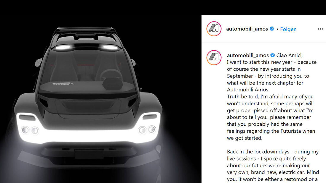 09/2020, Automobili Amos Elektroauto