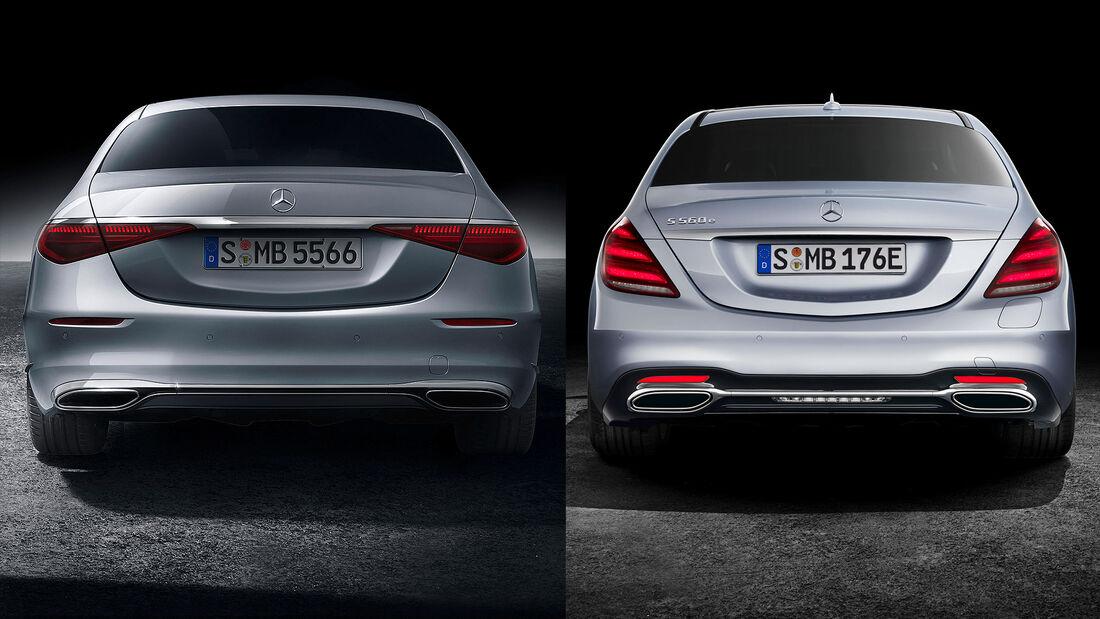 09/2020, Mercedes S-Klasse W 223 vs. W 222