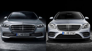 09/2020, Mercedes S-Klasse W 223 vs. W 222