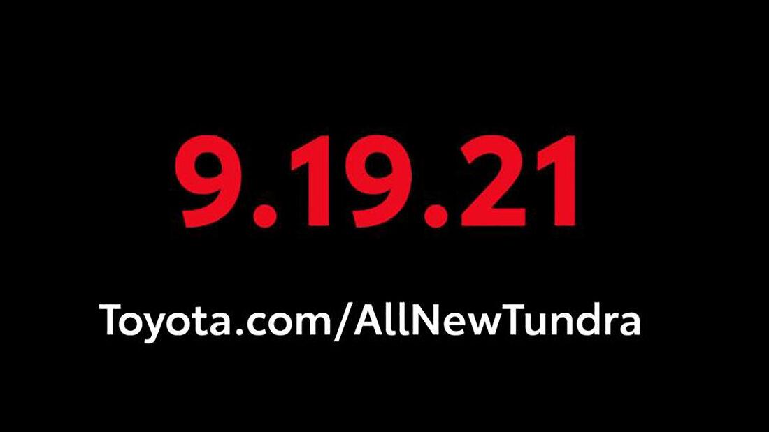 09/2021, 2022 Toyota Tundra Teaserbild