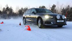 09/2021, ADAC Winterreifentest 2021 Audi A4 Avant im Schnee