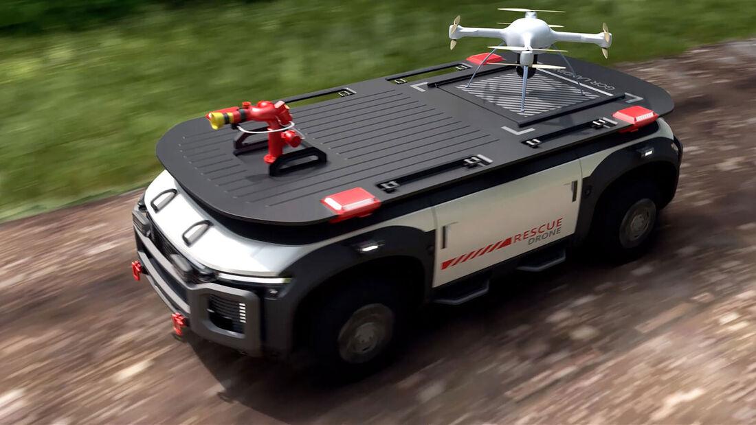 09/2021, Hyundai Rescue Drone Wasserstoff Brennstoffzelle
