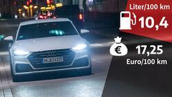 09/2021, Kosten und Realverbrauch Audi A7 Sportback 55 TFSI Quattro