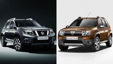 09/2021, Nissan Terrano auf Basis Dacia Duster in Russland Indien etc.