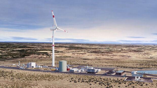 09/2021, Porsche E-Fuels-Produktionsanlage Haru Oni Patagonien Chile