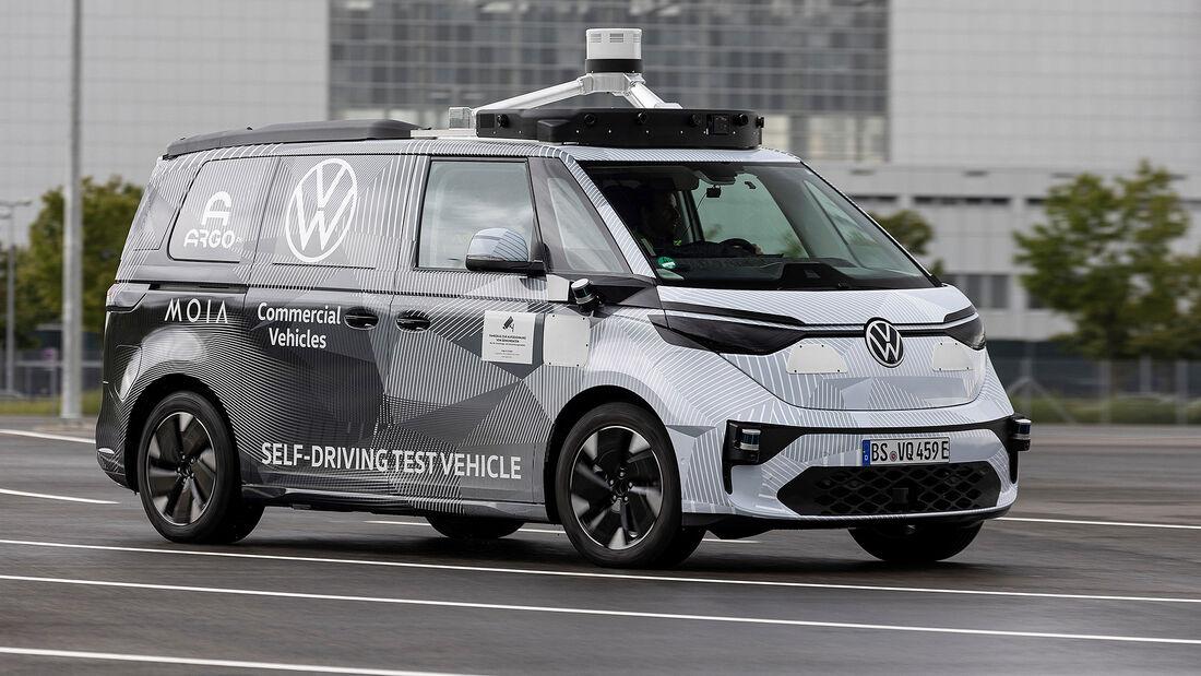 09/2021, VW ID.Buzz Prototyp autonomes Fahren IAA Mobility München 2021