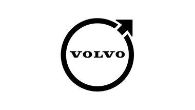 09/2021, Volvo Logo neu 2D schwarz weiß
