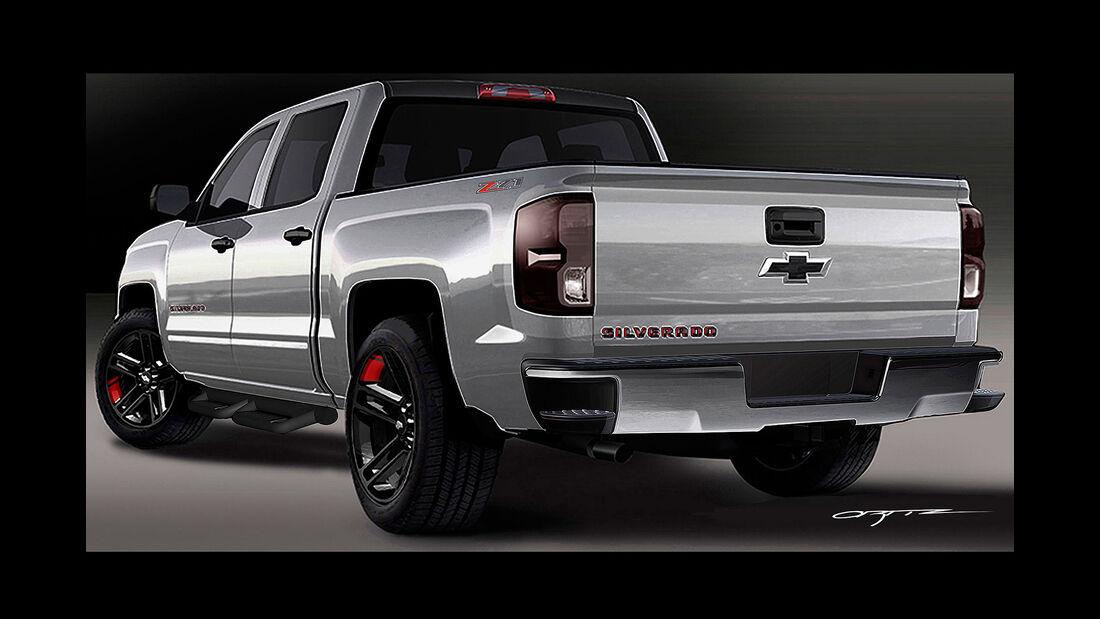 10/2015 Chevrolet auf der Sema 2015 Silverado