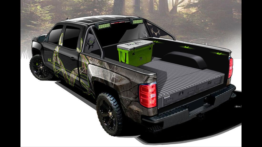 10/2015 Chevrolet auf der Sema 2015 Silverado Realtree Bone Collector