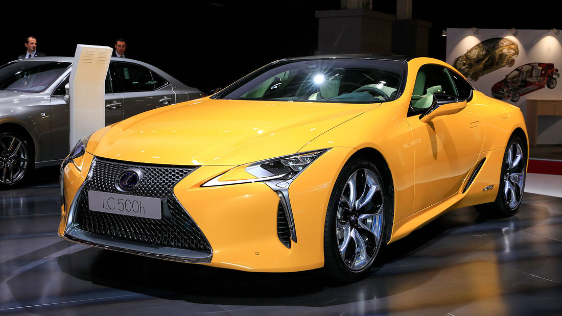 10/2018, Lexus LC Yellow Edition auf dem Autosalon Paris 2018