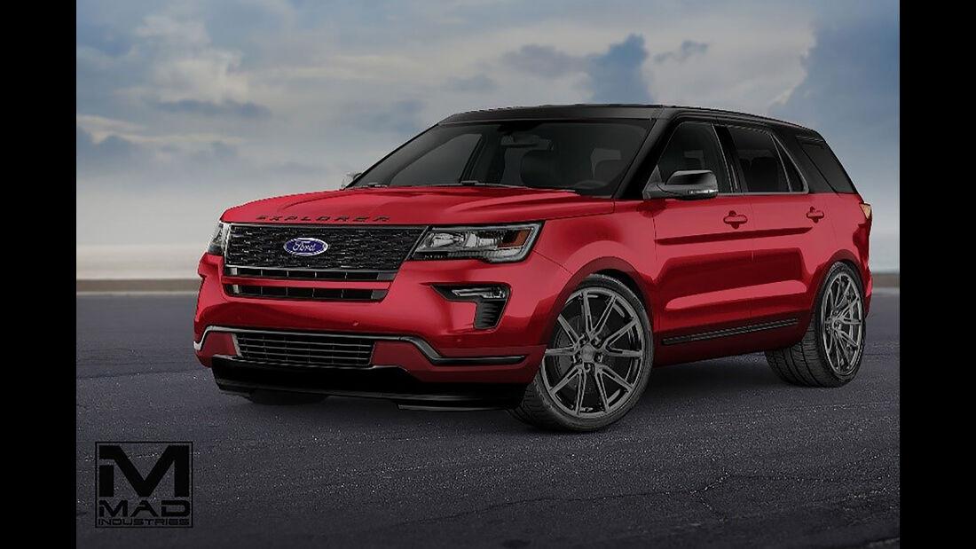 10/2018, MAD Industries Ford Explorer Sport auf der SEMA Show 2018