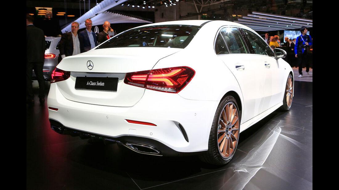 10/2018, Mercedes A-Klasse Limousine auf dem Autosalon Paris 2018