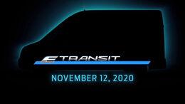 10/2020, Ford E-Transit Teaser