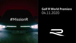 10/2020, Teaserbild VW Golf 8 R Debüt