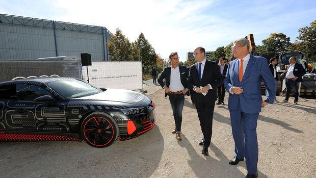 10/2021, Audi Charging Hub Spatenstich