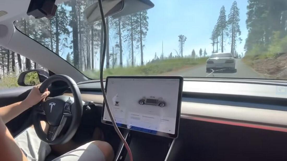 10/2021_Tesla Rekuperation durch Abschleppen