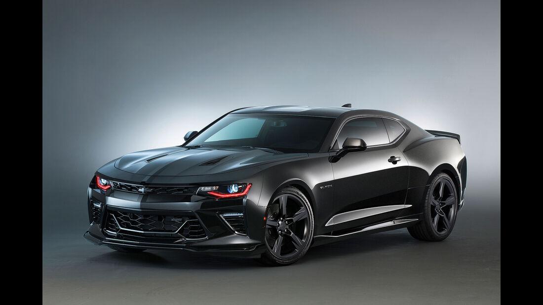 11/2015 Chevrolet auf der Sema 2015 Camaro Black