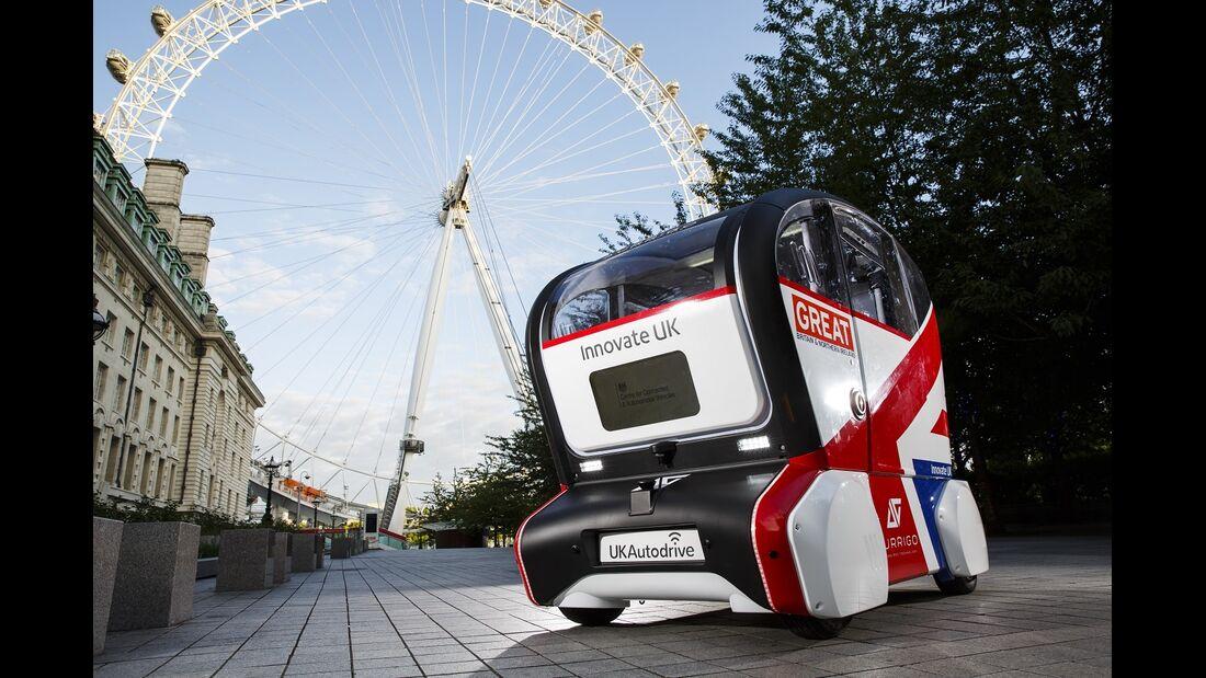 11/2017, Erprobung autonomer Autos in England - mit Jaguar Land Rover