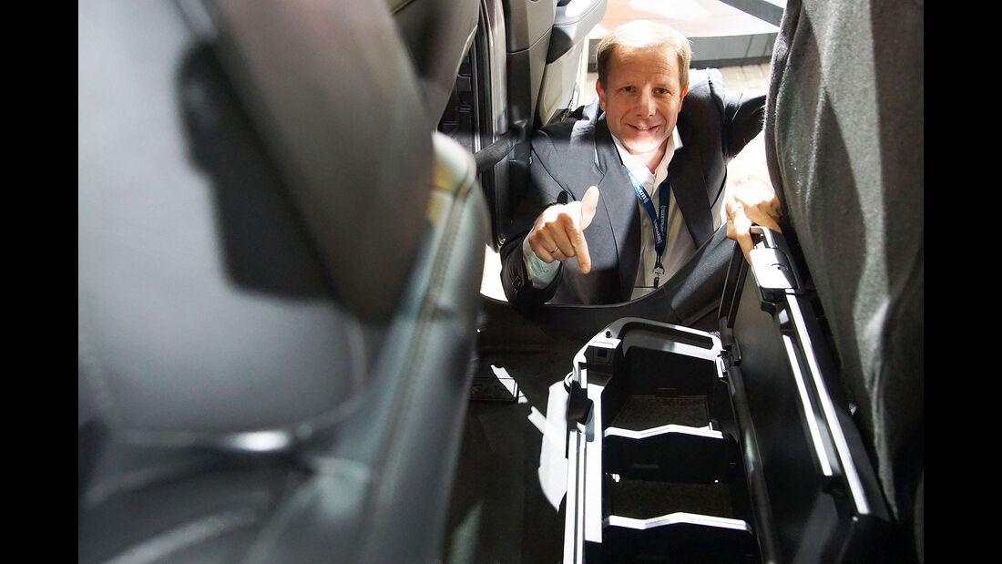 11/2018, Jeep Gladiator Sitzprobe Michael von Maydell auf der LA Auto Show