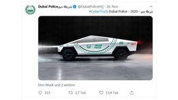 11/2019, Tesla Cybertruck Dubai Police