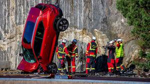 11/2020, Kran-Crashtest von Volvo