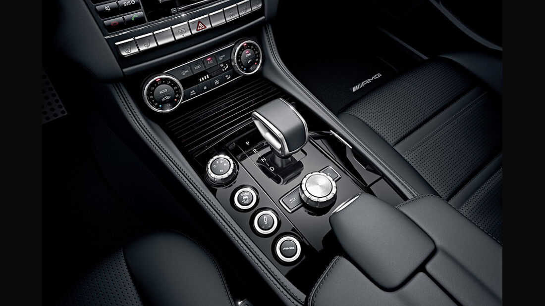 1110, Mercedes CLS 63 AMG, Schaltung, Mittelkonsole, Wählhebel