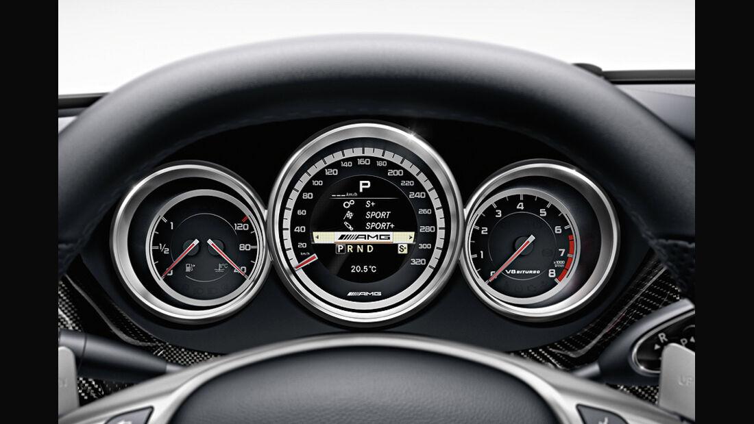 1110, Mercedes CLS 63 AMG, Tacho, Instrumente