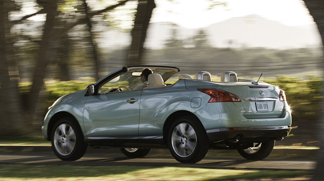 nissan murano crosscabriolet in l a suv cabrio mit vier. Black Bedroom Furniture Sets. Home Design Ideas