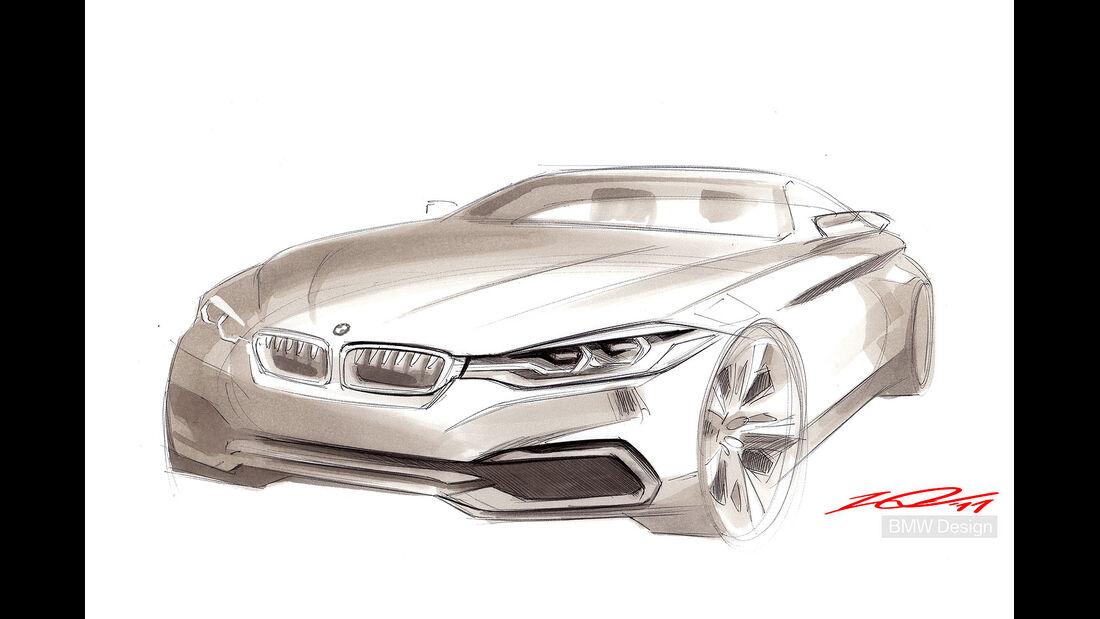 12/2012 BMW Concept 4er Coupé, Design-Sketch