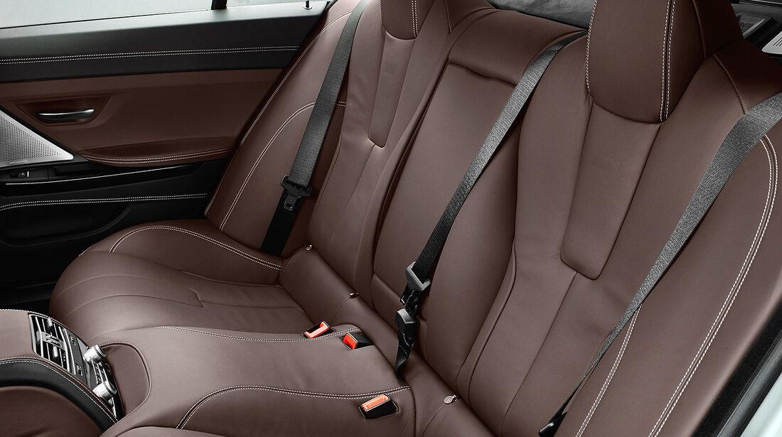 12/2012 BMW M6 Gran Coupé, Sitze hinten, Fond