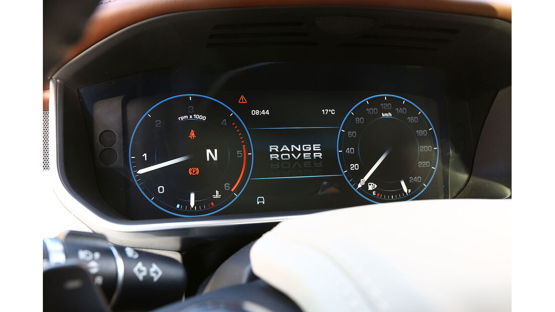 12/2012 ams27/2012, Fahrbericht Range Rover, Tacho