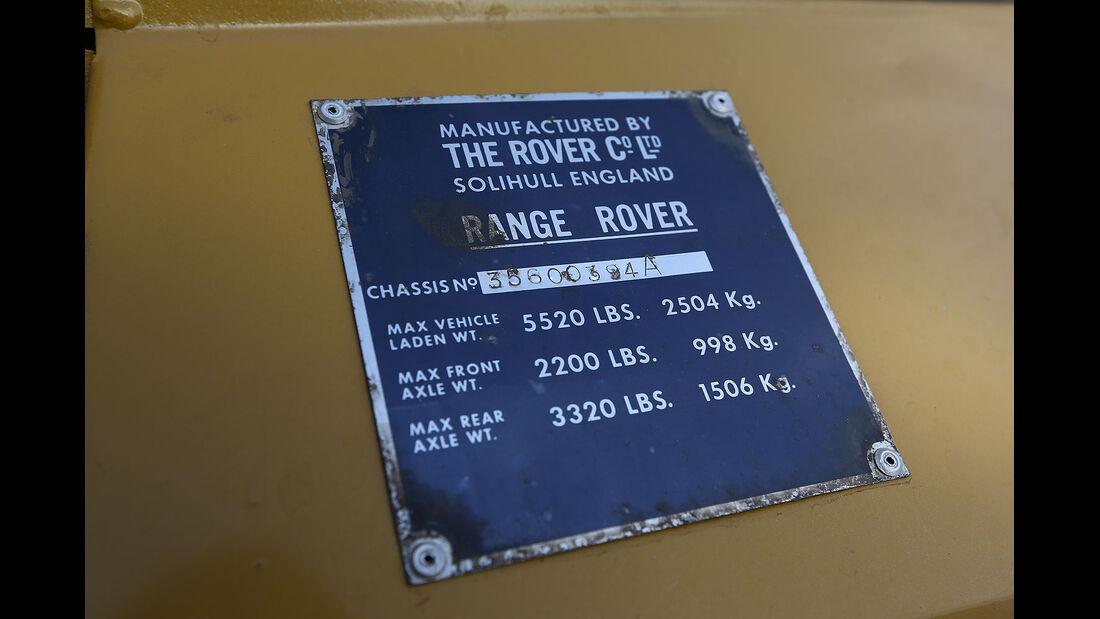 12/2012 ams27/2012, Fahrbericht Range Rover, Typenschild