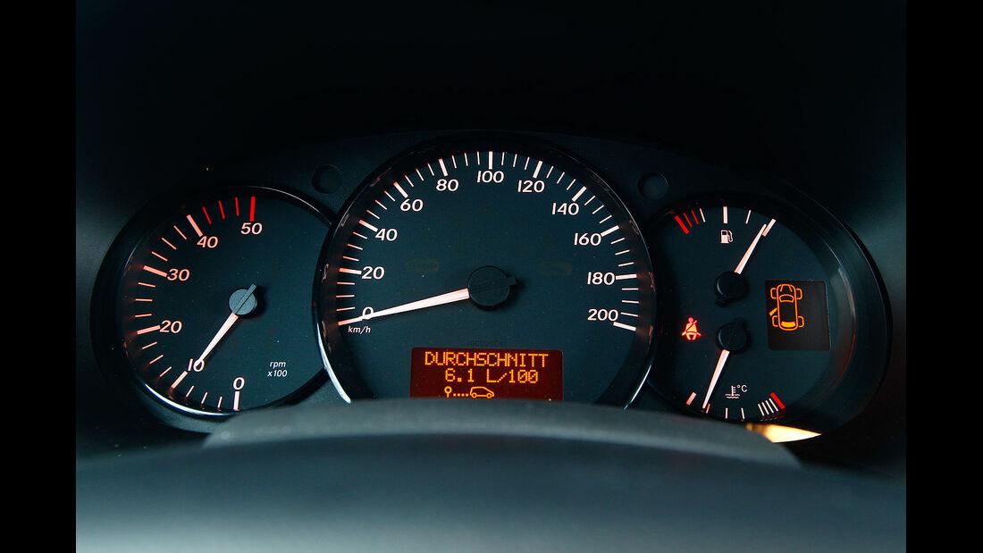 12/2012 ams27/2012, Vergleichstest Mercedes Citan 109 CDI Tacho
