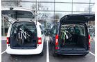 12/2012 ams27/2012, Vergleichstest Mercedes Citan 109 CDI VW Caddy 1.6 TDI Trendline, Kofferraum
