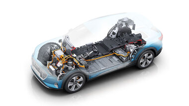 12/2019, Audi E-Tron Antriebstechnik Illustration