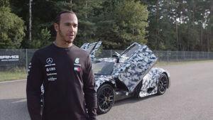 12/2019, Mercedes-AMG One mit Lewis Hamilton