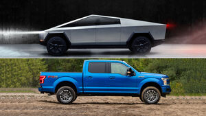 12/2019, Tesla Cybertruck vs. Ford F-150