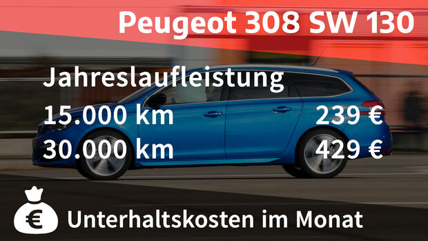12/2020, Realverbrauch Peugeot 308 SW PureTech 130 GT