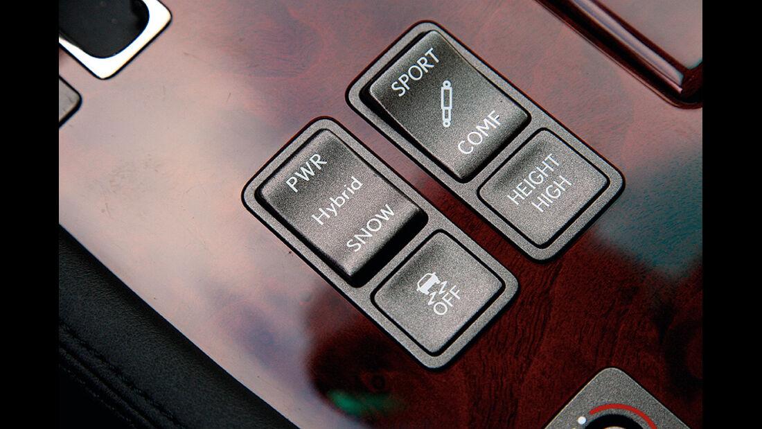 1210, Dauertest Lexus LS600h, fahrwerkschalter
