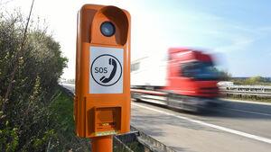 125 Notrufe kamen 2013 über die Säule 19.829 auf der A 7 an der Ausfahrt Langenau.