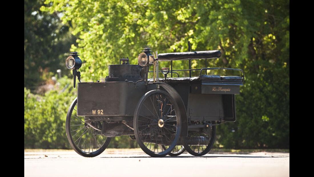 1884er De Dion Bouton Et Trepardoux Dos-A-Dos Steam Runabout