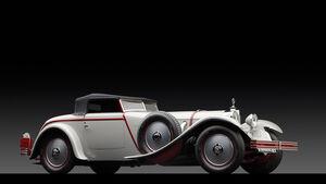 1928er Mercedes-Benz 680S Torpedo Roadster mit einer Karosserie von Saoutchik