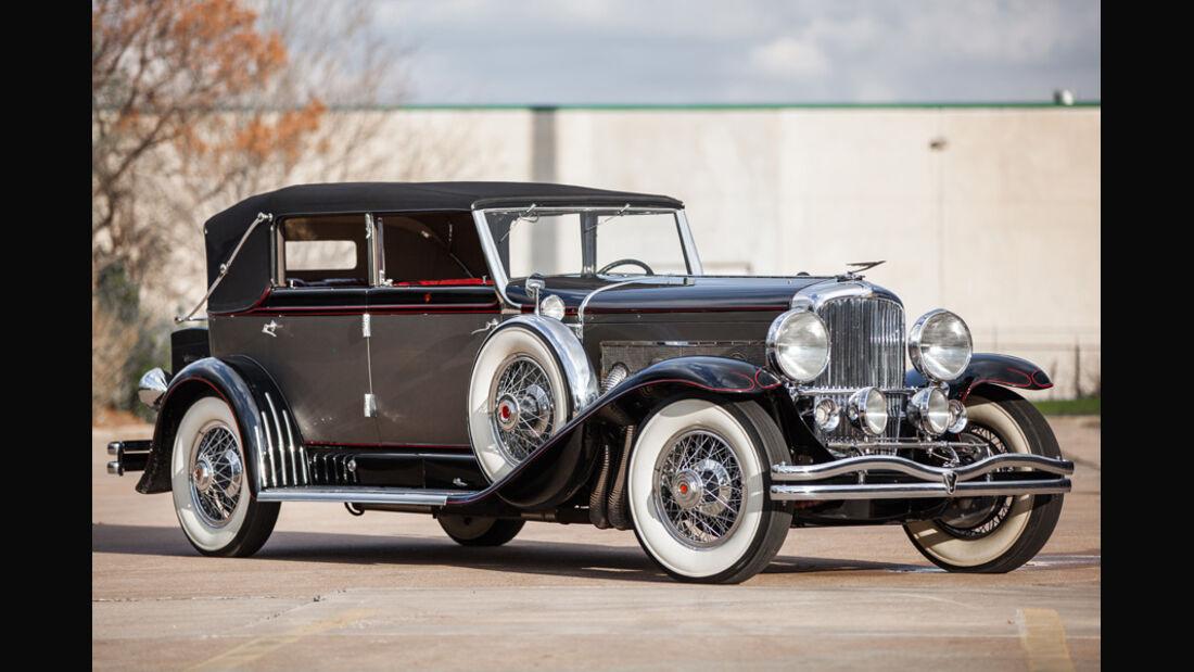1929er Duesenberg Model J Convertible Berline