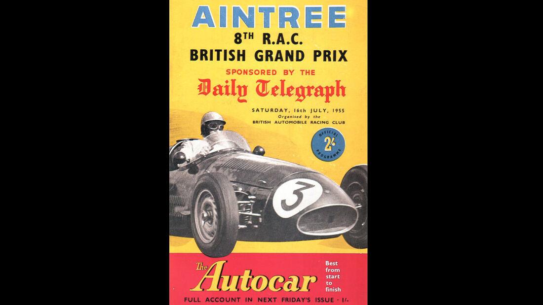 1955 - GP England - F1-Programm - Cover