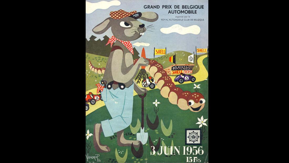 1956 - GP Belgien - F1-Programm - Cover