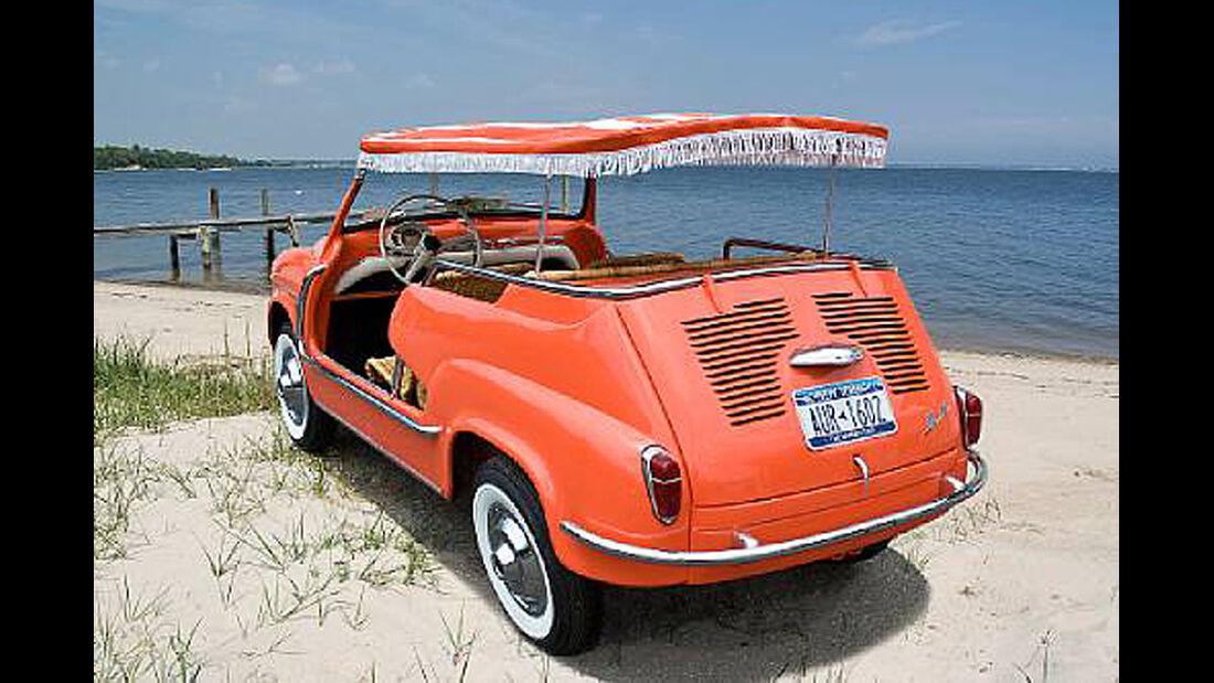 1959 Fiat 600 Jolly Beach Car - Heckansicht